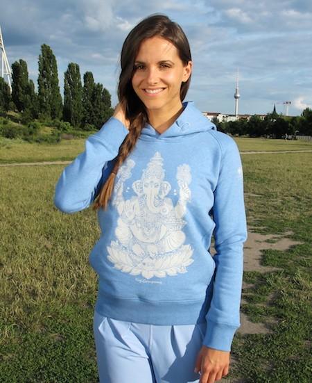 Sweatshirt à capuche LOVE PEACE OM