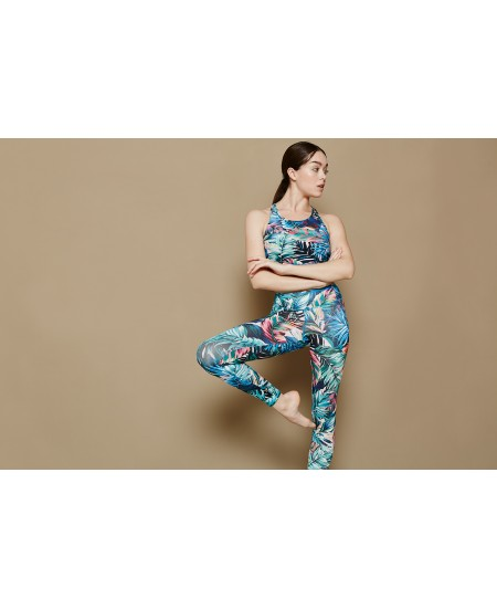 Leggings Yoga Tencel Fiori o Piume