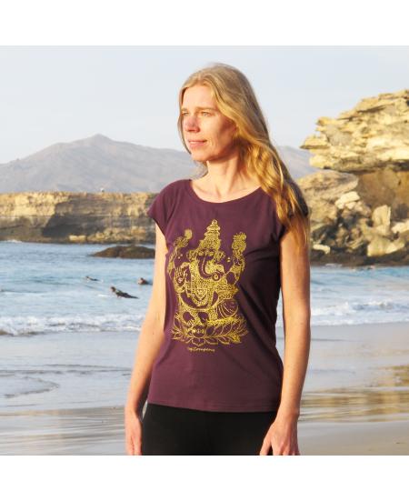 T-Shirt Ganesh Aubergine