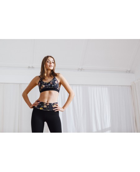 Leggings de Yoga avec ceinture rabattable