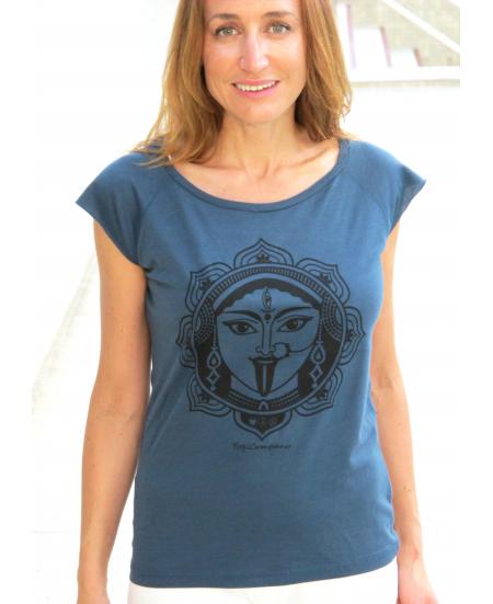 T-Shirt Yoga Kali Bleu