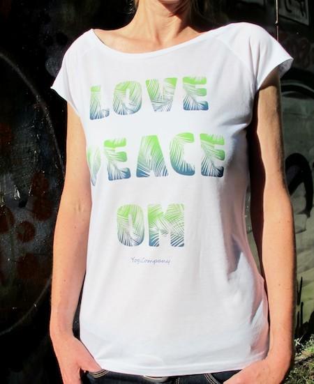 T-Shirt  PALM LOVE PEACE OM