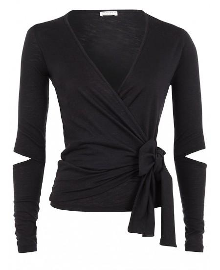 Yoga Black Wrap Jacket