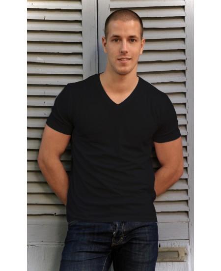T-Shirt Yoga Homme Bambou Noir