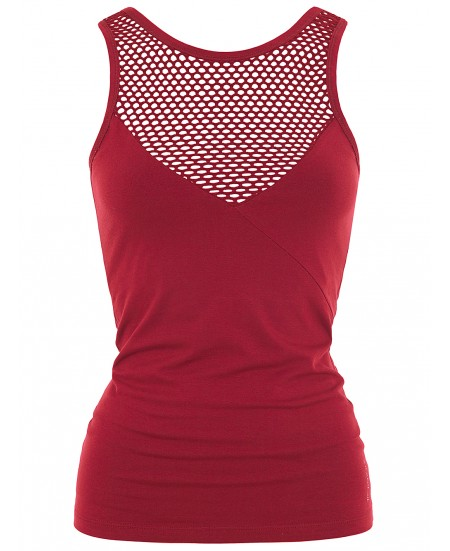 Yoga Mesh Top Rouge